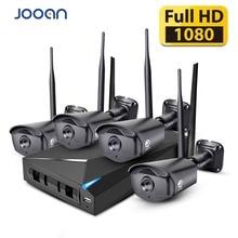 JOOAN Wireless Security Camera System 4CH CCTV NVR 1080P WIFI Security Camera Set Outdoor IP Camera Video Surveillance Kit
