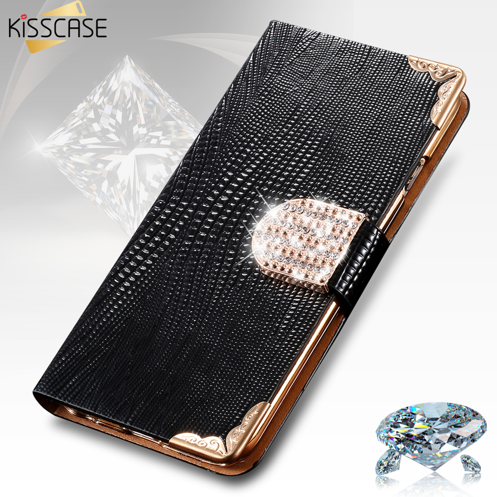 KISSCASE For iphone 5 6 7 Plus 5s 5C SE 4 Case Glitter Diamond Luxury Rhinestone Leather Wallet Flip Case For iPhone 7 Case