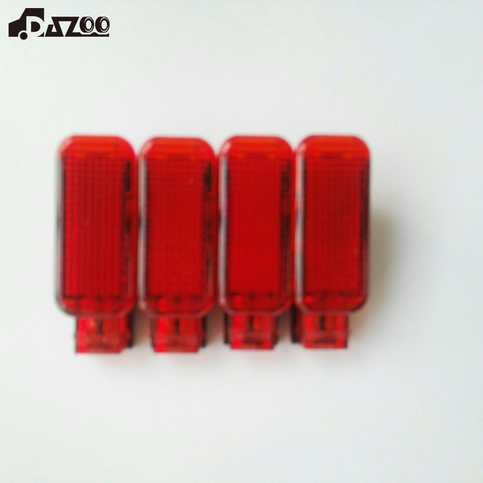 DAZOO 4PCS OEM Red Door Panel Warning Light For VW Octavia A3 S3 A4 A5 A6 A7 A8 Q3 Q5 TT 8KD 947 411 8KD947411 oem glove box lights set 8kd 947 415 c 4b0 947 415 a 8d0 947 415 fit vw audi a3 a4 a5 a6 allroad quattro a7 q3 q5 q7 tt