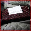 Couro PU Oblong caixa de tecido suporte de papel capa Case Holder Dispenser Home Office decoração Interior do carro preto vermelho branco