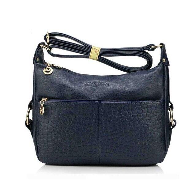 Free Shipping Fashion Women Handbags Shoulder Bag Genuine Leather Crocodile  Leather Female Bag Ladies Crossbody Bag ac4ede45e47bf
