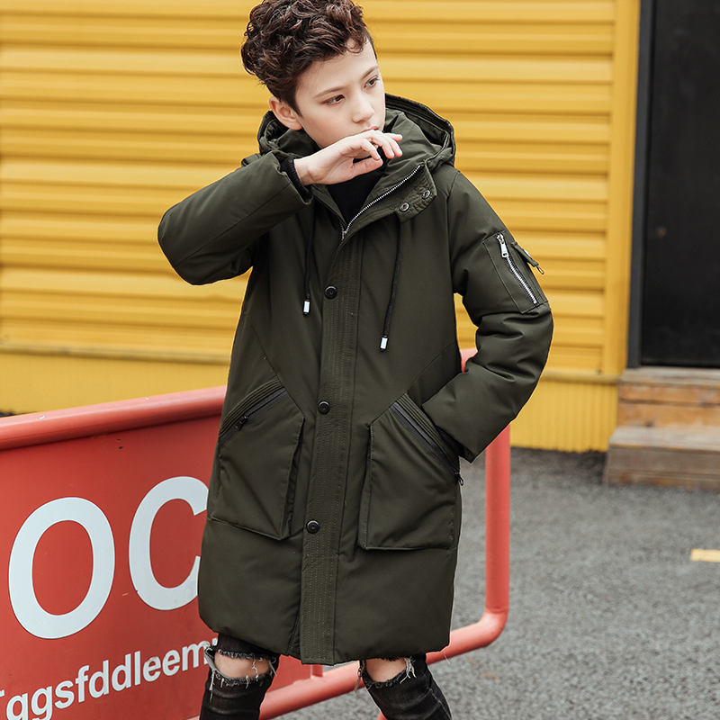 Baby Boys Winter Jacket Coat Kids Warm Thick Down & Parkas Hooded Outerwear Children Snowsuit Toddler Down Jacket Christmas Gift 2015 new hot winter cold warm woman down jacket coat parkas outerwear hooded loose luxury long plus size 2xxl splice cloak