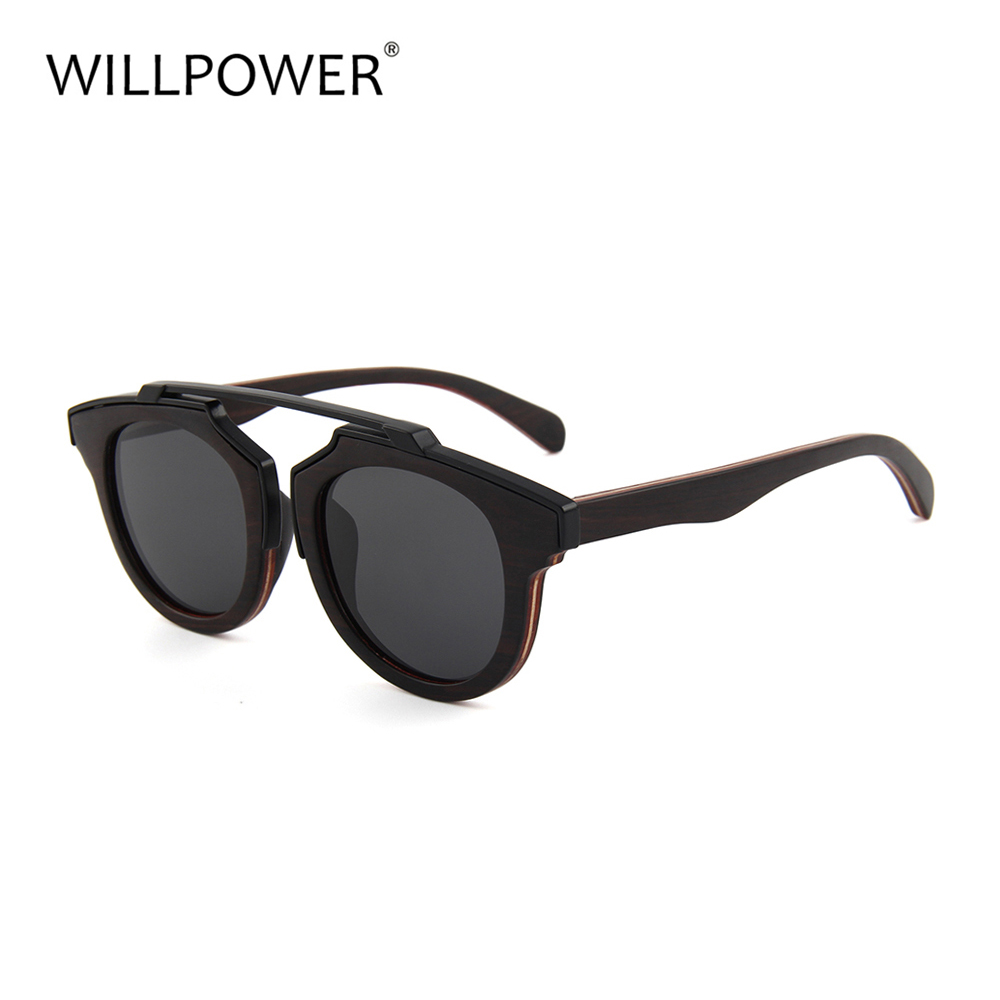New arrivals 2018 fashion sunglass for mens wooden sunglasses skateboard handmade