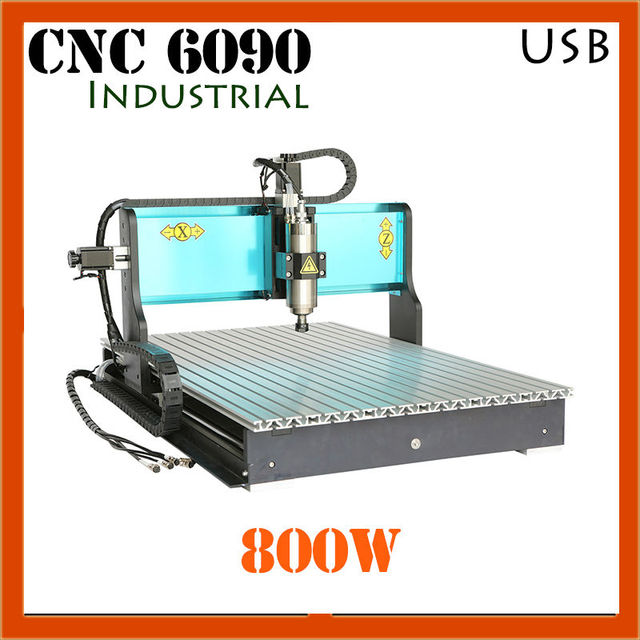 JFT Industrial CNC Precision Engraving Machine cnc6090 Routers for Woodworking 3 Axis 800W  CNC Router with USB Port
