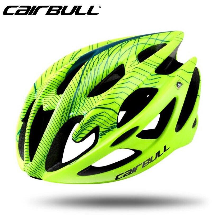 CAIRBULL Hohe Festigkeit PC + EPS Fahrrad Helm Superlight Atmungs Radfahren Sicherheit Hut Casque MTB Straße Fahrrad Helme casco