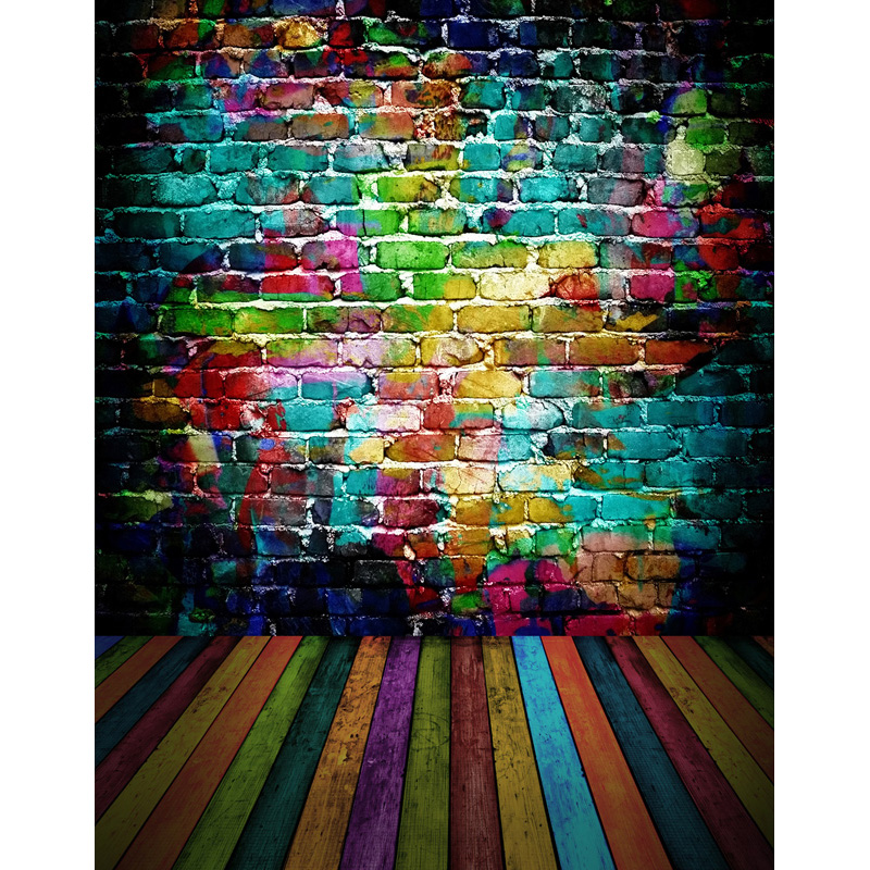 Custom vinyl cloth print 3 D colorful graffito wall photo studio backgrounds for photography photographic backdrops props S-2593 7x5ft vinyl photography background white brick wall for studio photo props photographic backdrops cloth 2 1mx1 5m