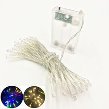 2M 4M 10M LED String Lights 3*AA Battery Operated Waterproof Fairy LED Christmas Lights For Holiday Party Wedding Decoration free shipping led little star string lights battery operated 4m 80leds 10m 100leds 220v christmas wedding decoration fairy light