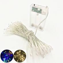 2 m 4 m 10 m led luzes da corda 3 * aa bateria operado à prova dwaterproof água fada led luzes de natal para a decoração do casamento do feriado
