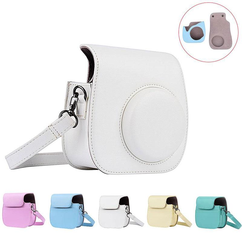 New Retro Camera PU Leather Bag Protect Case Pouch With Strap For Fuji Fujifilm Instax Mini 8 adjustab length