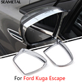 For Ford Kuga Escape 2013 2014 2015 2016 2017 Car Rearview Mirror Rain Eyebrow Cover Stickers Decoration Accessories Car-styling