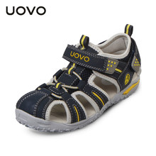 UOVO Brand 2020 Summer Beach Sandals Kids Closed Toe Toddler Sandals Children Fashion Designer Shoes For Boys And Girls 24#-38#(China)