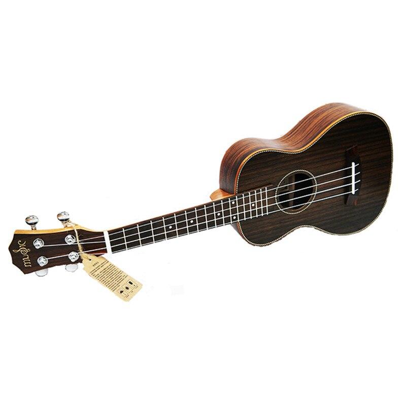 Concert Acoustic Ukulele 23 inch Rosewood Hawaiian 4 Strings Guitar 15 Fret Electric Ukelele with Pickup EQ