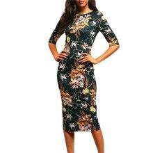 Spring Summer Women Casual Brand Bodycon font b Dresses b font Vintage font b Office b