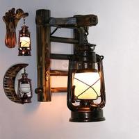 Vintage Free Shipping Bamboo bronze kerosene Lamp Wall light Stair Corrider hallway garage storeroom Traditional Wall light