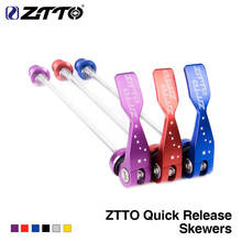 ZTTO 1 Pair Bicycle Skewers Ultralight Quick Release Skewers for MTB Road Bike Quick Release Front+Rear Hubs Skewers 6 Colors стоимость