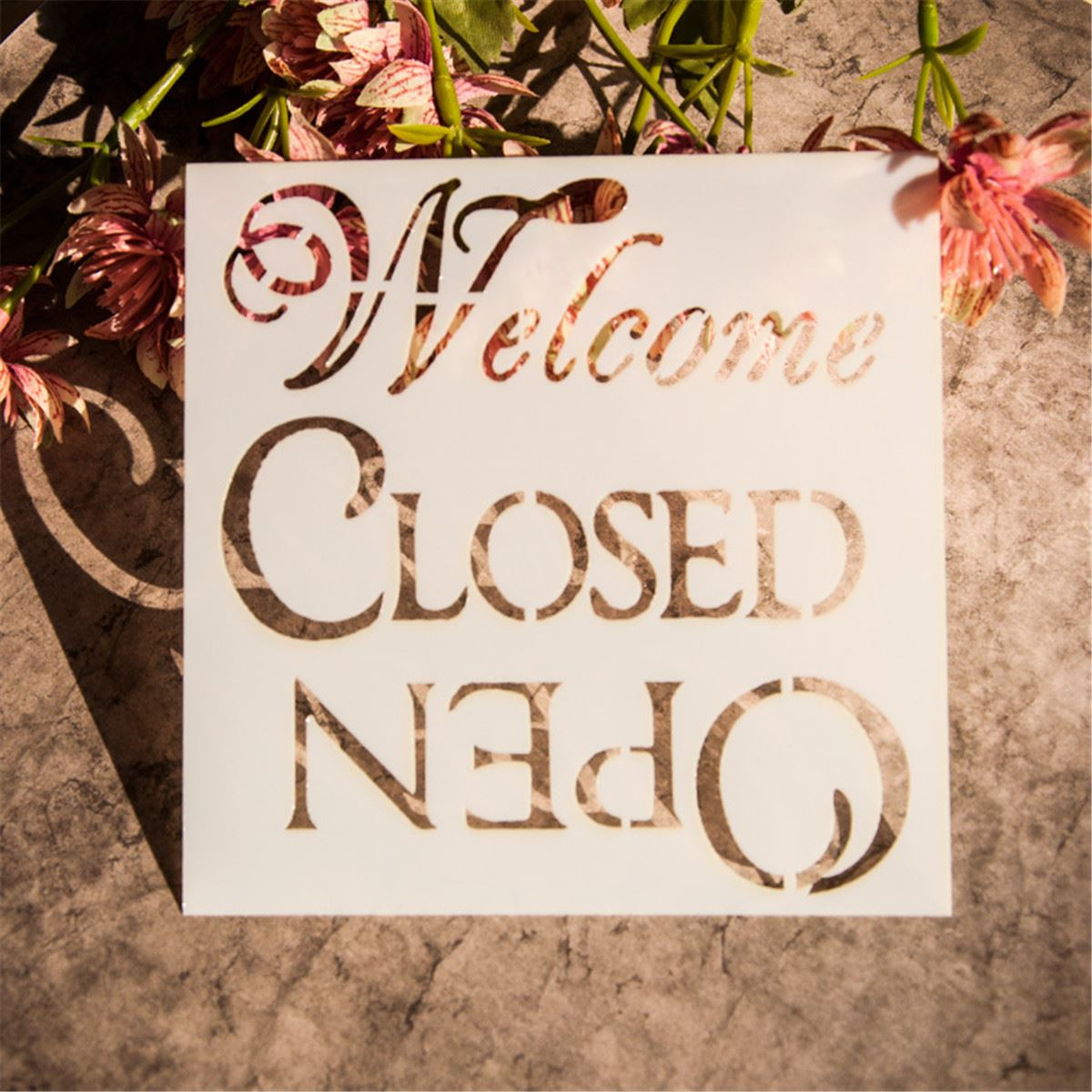 Aliexpress buy welcome letter painting stencils scrapbooking aliexpress buy welcome letter painting stencils scrapbooking decor art wall craft shop store papercrafts design decor airbrush template from reliable amipublicfo Gallery
