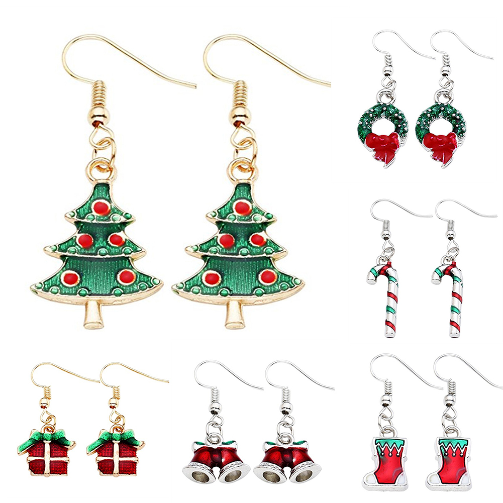 Girls Snowman Colorful Ear Studs 925 Sterling Silver