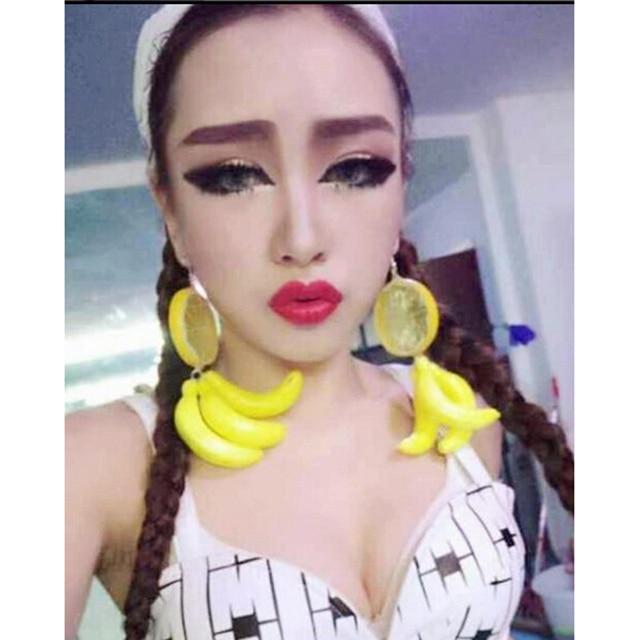 Lemon Banana Earrings 1