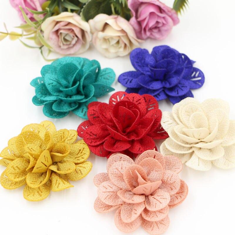50 шт./лот сплошной цвет ручной работы весенние цветы камелии 62 мм полые цветочные DIY детской одежды/Обувь/аксессуары для волос материалы