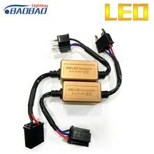 цена на C16 Car LED Headlight Decoder 2 piece, Canceller 9005 9006 H1 H3 H4 H7 H11 car styling Error Free Load Resistor Canbus Decoder