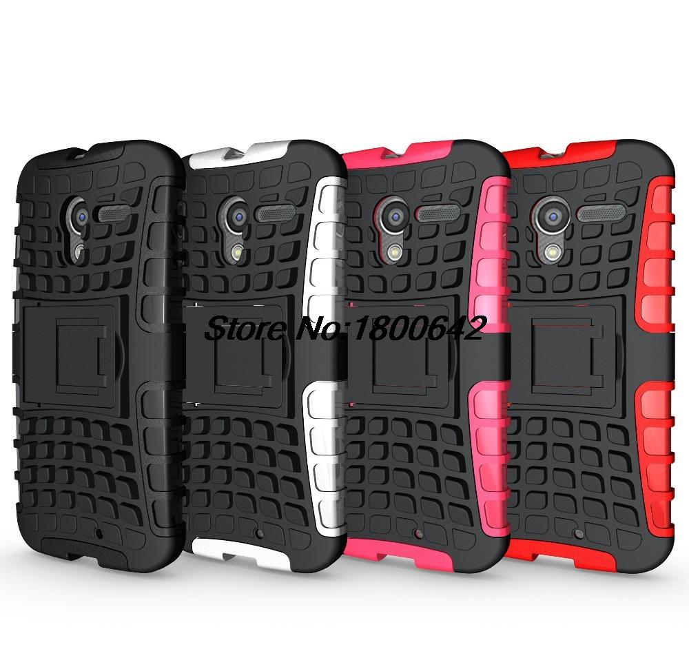 Tire Style Tough Rugged Dual Layer Hybrid Hard KickStand Duty Armor Case for Motorola Moto X XT1056 XT1060 Phone Bags for Moto X
