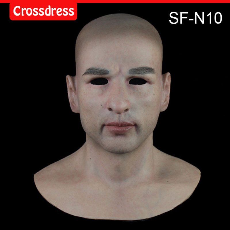 SF-N10 silicone true people mask costume mask human face mask silicone dropshipping sf 7 silicone true people mask costume mask human face mask silicone dropshipping