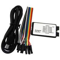USB Logic Analyzer 24 M 8CH Microcontroller ARM FPGA Debug Tool 24 MHz, 16 MHz, 12 MHz, 8 MHz, 4 MHz, 2 MHz