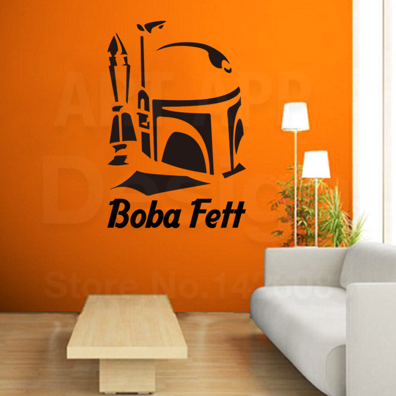 2016 art new design home decor cheap vinyl boba fett movie