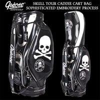 [2 цвета] King Skull USA Golf Caddie сумка для клюшек PU кожаная сумка для гольфа с дождевиком 5 way для мужчин и женщин