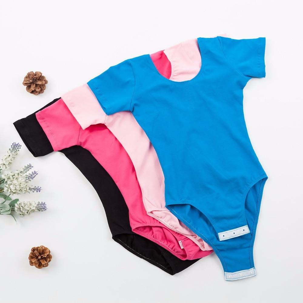 T-shirt Ballet Leotard Dance Bowknot Clothes Short Sleeve Athletic Wear Toddler Kid Gymnastics Leotard With Snap Crotch ku31 oshkosh b gosh hava g athletic sandal toddler little kid