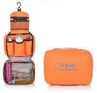 MIWIND Nueva Bolsa de Poliéster Mujeres de Moda Cosméticos Casos Higiénico Colgando De Almacenamiento de Cosméticos bolsa de Viaje Bolsa de Maquillaje Kit TSH734