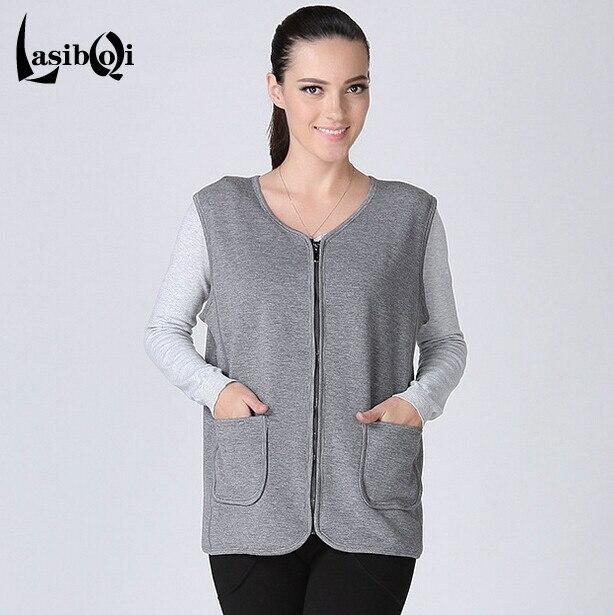 Hot sell large size best quality Cheap fashion winter new women 's super soft velvet plus fat increase zipper cardigan warm vest
