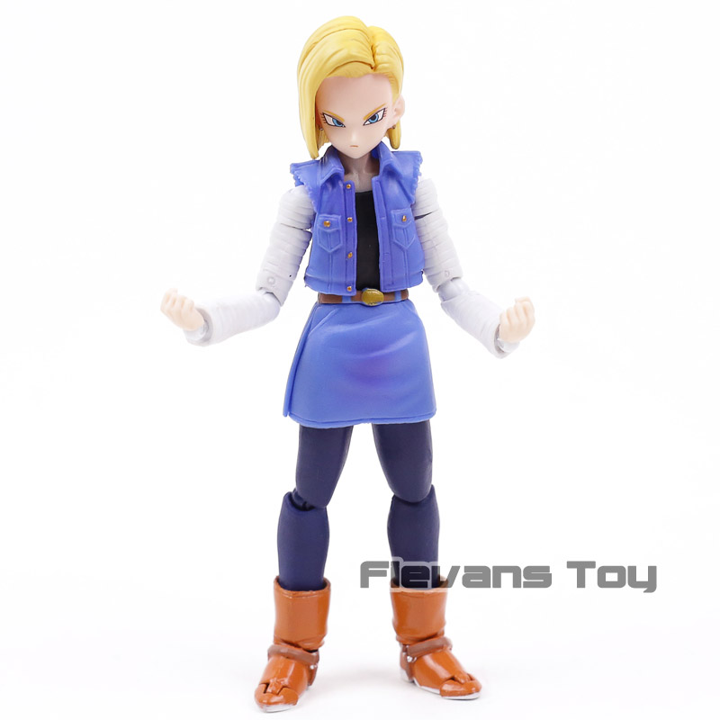 Anime Dragon Ball Z SHF S.H.Figuarts Android NO. 18 Lazuli Moveable PVC Action Figure Collection Model Kids Toys Doll Anime Dragon Ball Z SHF S.H.Figuarts Android NO. 18 Lazuli Moveable PVC Action Figure Collection Model Kids Toys Doll