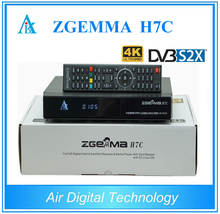 5pcs lot Linux Enigma 4K Zgemma H7C cable tv receiver combo DVB S2X 2 DVB T2