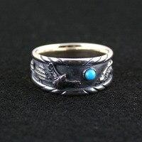 925 чистого серебра кольцо тайские Серебряное кольцо мужской женский чистого серебра палец кольцо