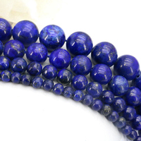 Lapis Lazuli Round Loose Beads 4 6 8 10mm Size Optional 15 Inch DIY Wholesale Hot