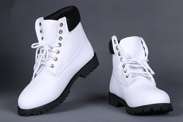 Cheap White Winter Boots For Men And Women 2016 New Ankle Waterproof Snow  Boots Women Genuine Leather Work Boots Hiking Shoes 4b36ab778