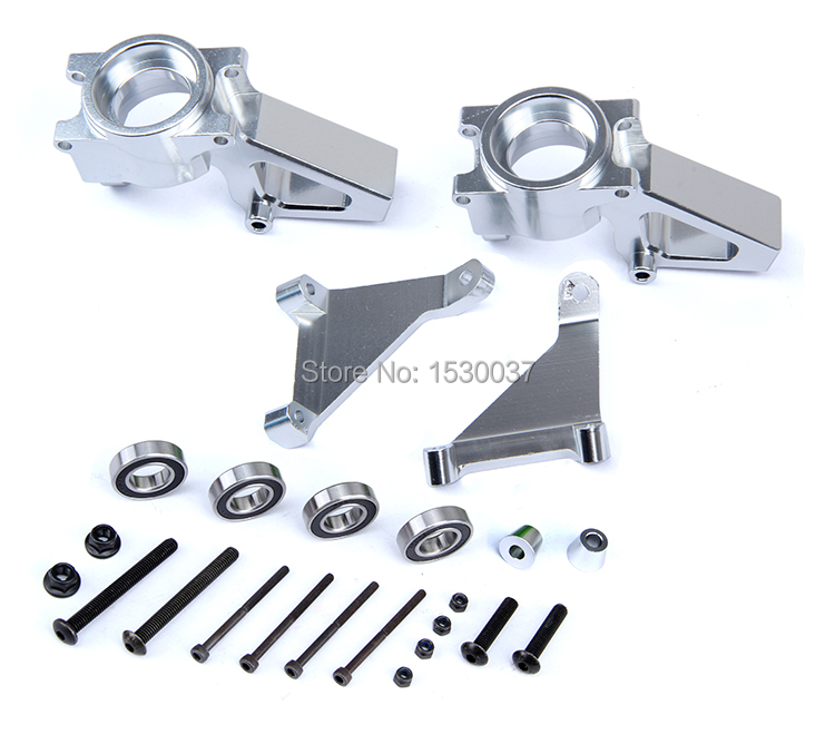 R/C racing car parts, CNC alloy metal Front Hub Carrier set for 1/5th RC Gas Model Car/for baja alloy front hub carrier for 1 5 hpi baja 5b 5t 5sc