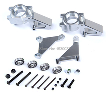 R/C racing car parts, CNC alloy metal Front Hub Carrier set for 1/5th RC Gas Model Car/for baja