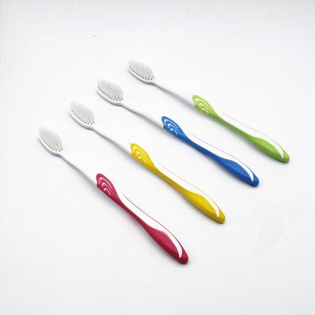 4 unids/pack doble Ultra suave carbón de bambú Nano cepillo de dientes blanco cepillo de dientes Dental Cuidado Personal dientes cepillo negro