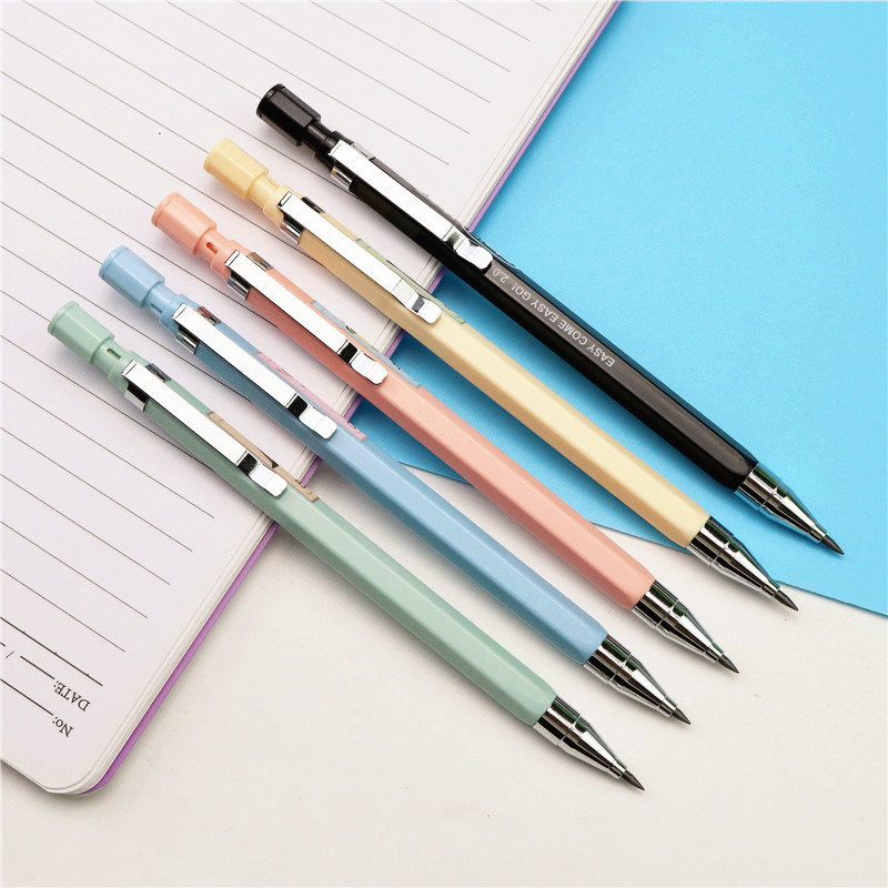 New 2.0 HB Mechanical Pencil Cute Candy Color Pencils For Kids Gift Coarse Core Do Not Cut