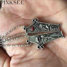 Pinksee novo 1 par liga gótico punk casal pingente colares para mulheres amantes dos homens moda colar jóias presentes