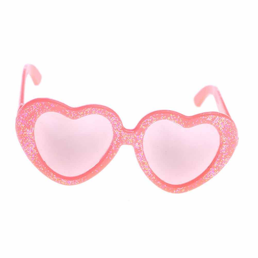 Heart-Shaped Frame Sunglasses For 18-Inch Girl Baby Dolls Kids' Best Holiday Gifts