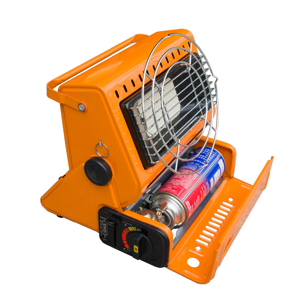 2015 New outdoor 2 in 1 orange color portable gas heater for camping and fishing