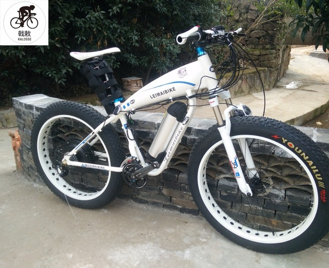 bb2fcbcfa4f Kalosse free shipping Fat bikes 27 speed 48V 15A 1000W electric beach  bicycle electric snow bike