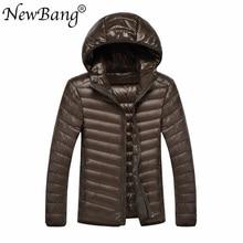 NewBang מותג 8XL 9XL 10XL 11XL גברים קל במיוחד ברווז למטה מעיל קל משקל נוצת ברדס מעיל להאריך ימים יותר בתוספת גודל גדול