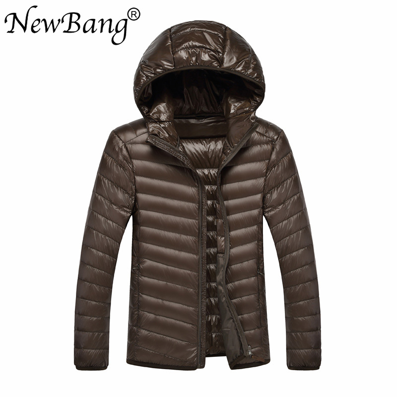 NewBang Brand 8XL 9XL 10XL Men Ultra Light Duck Down Jacket Lightweight Feather Hooded Coat Outwear Plus  Large Size