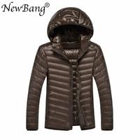 NewBang Brand 8XL 9XL 10XL Men Ultra Light Duck Down Jacket Lightweight Feather Hooded Coat Outwear Plus Large Size