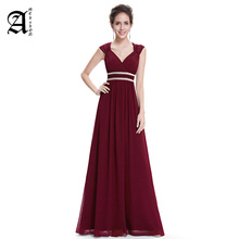 Ameision 2019 Cheap Chiffon Party Gowns Beading Empire Hollow Out Formal Dress Plus Size Elegant  Long Evening