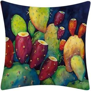 Image 4 - Tropikalna sukulenty kaktus kwiatowy nadruk poszewka na poduszkę pokrowiec na kanapę Sofa samochodowa podwórko kuchnia wystrój pokoju
